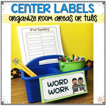 Literacy Center Rotation Board | Center Signs EDITABLE