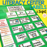 Literacy Center Rotation Board • Center Signs