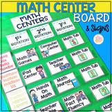 Math Center Rotation Board • Center Signs