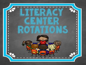 Literacy Center Rotation Board: Chalkboard and Arrows