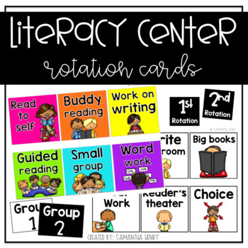 Literacy Center Rotation Cards