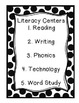 Literacy Center Rotation Pack! Polka Dots