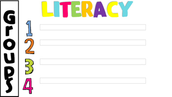 Literacy Center Rotation Powerpoint-4 rotations