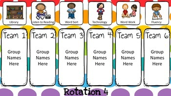 Literacy Center Rotations Automatic PowerPoint (Custom Request)