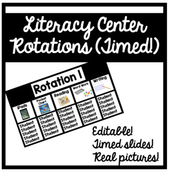 Literacy Center Rotations with Real Pictures