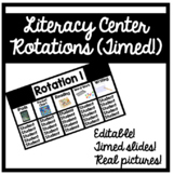 Timed PowerPoint for Literacy Centers!