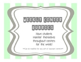 Weekly Literacy Center Rubric