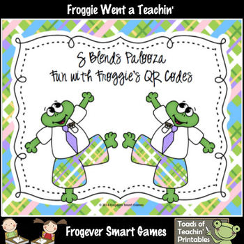 Literacy Center--S Blends Palooza Fun with Froggie's QR Codes