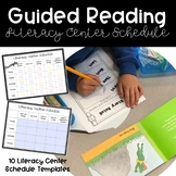 Literacy Center Schedule Editable Template
