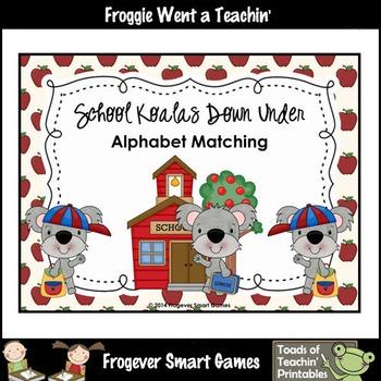 Alphabet--School Koalas Down Under Alphabet Matching