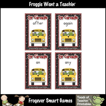 Literacy Center--School Time Froggies (First Grade Words)