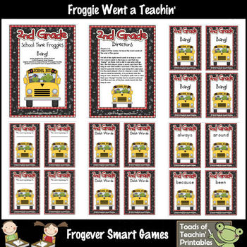 Literacy Center--School Time Froggies (Second Grade Dolch Words)