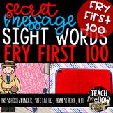 Literacy Center: Secret Message Sight Words, Fry First 100