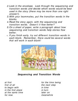 Literacy Center: Sequencing and Transition