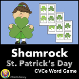 St. Patrick's Day Shamrock Go Fish - CVCe Words