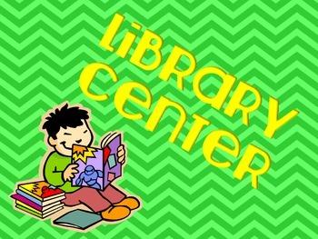 Literacy Center Signs (chevron theme)  Back To School