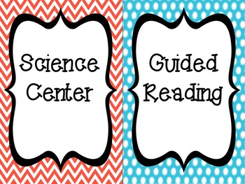 Literacy Center Signs: Colorful EDITABLE