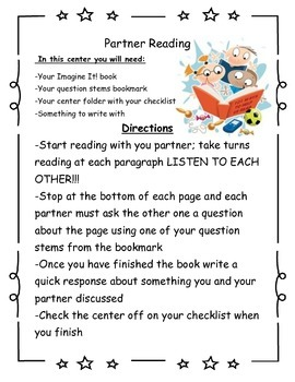 Literacy Center Signs (Directions for guided reading independent work centers)