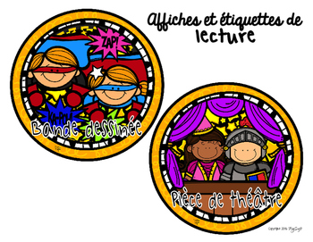 Literacy Center Signs & Labels in French