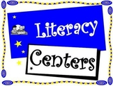 Literacy Center Signs Star Themed for a Balanced Literacy