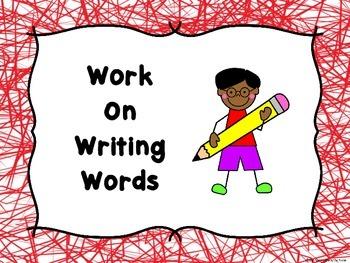 Literacy Center Signs Stick Kids -Freebie