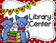 Center Signs for PK-2--Cute Blue Cat Theme
