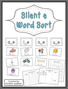 Literacy Center: Silent e Word Sort