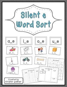 Literacy Center: Silent e Word Sort