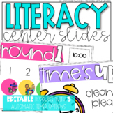 Literacy Center Rotation Slides {Editable and with Automat