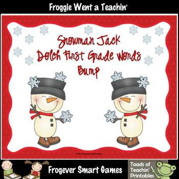 Literacy Center--Snowman Jack 220 Dolch Words Mega Bundle Bump Games
