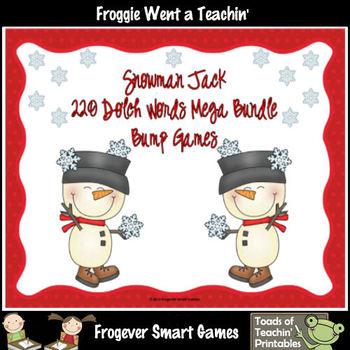"""220 Dolch Words -- """"Snowman Jack"""" Bump Games Mega Bundle"""