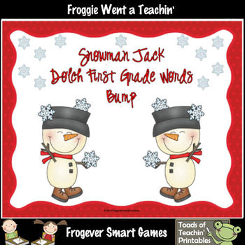 Literacy Center--Snowman Jack Dolch First Grade Words Bump Games