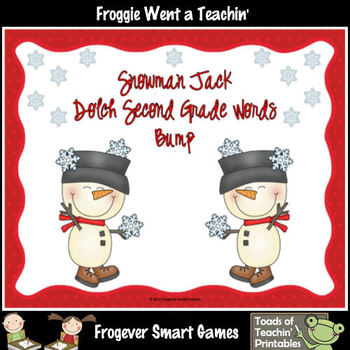 Literacy Center--Snowman Jack Dolch Second Grade Words Bump Games