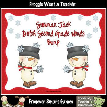Literacy Center--Snowman Jack Dolch Second Grade Words Bump Games