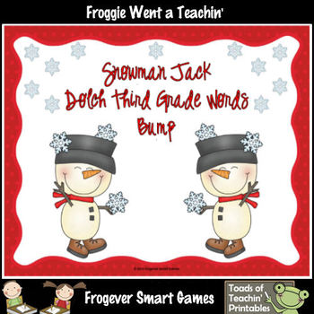 Literacy Center--Snowman Jack Dolch Third Grade Words Bump Games