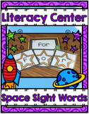Literacy Center ~ Space Sight Words