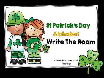 Literacy Center-St. Patricks Day Alphabet Scavenger Hunt