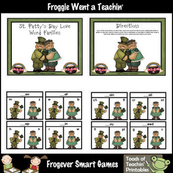St.Patrick's Day-- St. Patty's Day Love Word Families