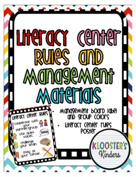 Literacy Center / Station Rules Poster and Management Cards