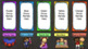 Literacy Center/Station Rotation Automatic PowerPoint (Rainbow Themed)