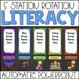 Literacy Center Rotation PowerPoint Chart