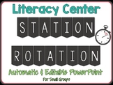 Literacy Center Station Rotation PPT