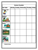 PK-2 Literacy Center Student Activity Checklist