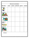 PK-2 Literacy Center Student Activity Checklist (Spanish)