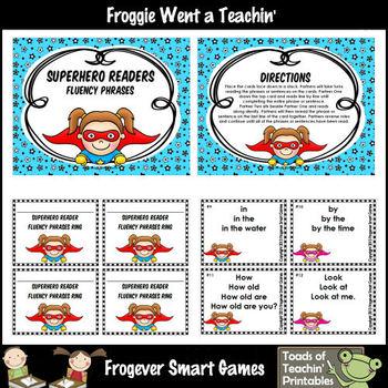 Fluency Phrases--Superhero Readers Fluency Phrases Set I Dolch Words