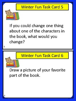 Literacy Center Task Cards:  Book Review