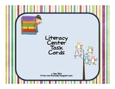 Literacy Center Task Cards