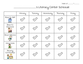 Literacy Center Tracker & Student Accountability Forms (Daily 5)