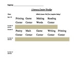 Literacy Center Tracking Sheet
