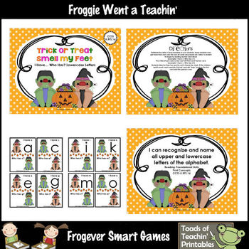Alphabet--Trick or Treat Smell My Feet (I Have... Who Has? Game